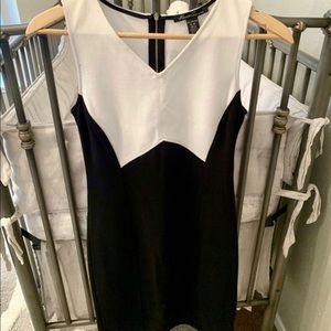 Beautiful Black & White Midi Dress
